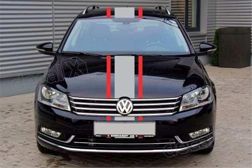 Adesivo Faixas Capo Teto Mala Volkswagen Golf 3m Gma015