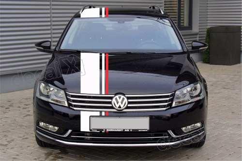 Adesivo Faixas Capo Teto Mala Volkswagen Golf 3m Gma019