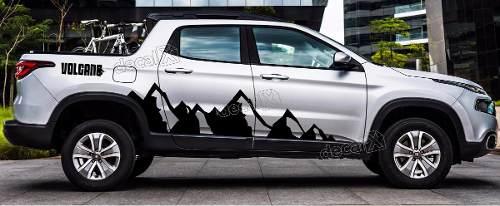 Adesivo Fiat Toro Volcano Faixa Lateral Montanha Tor13