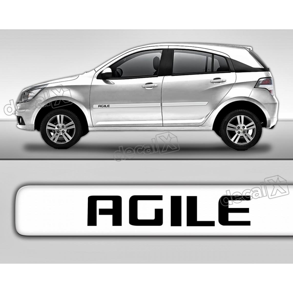 Adesivo Friso Chevrolet Agile Lateral Resinado Transparente
