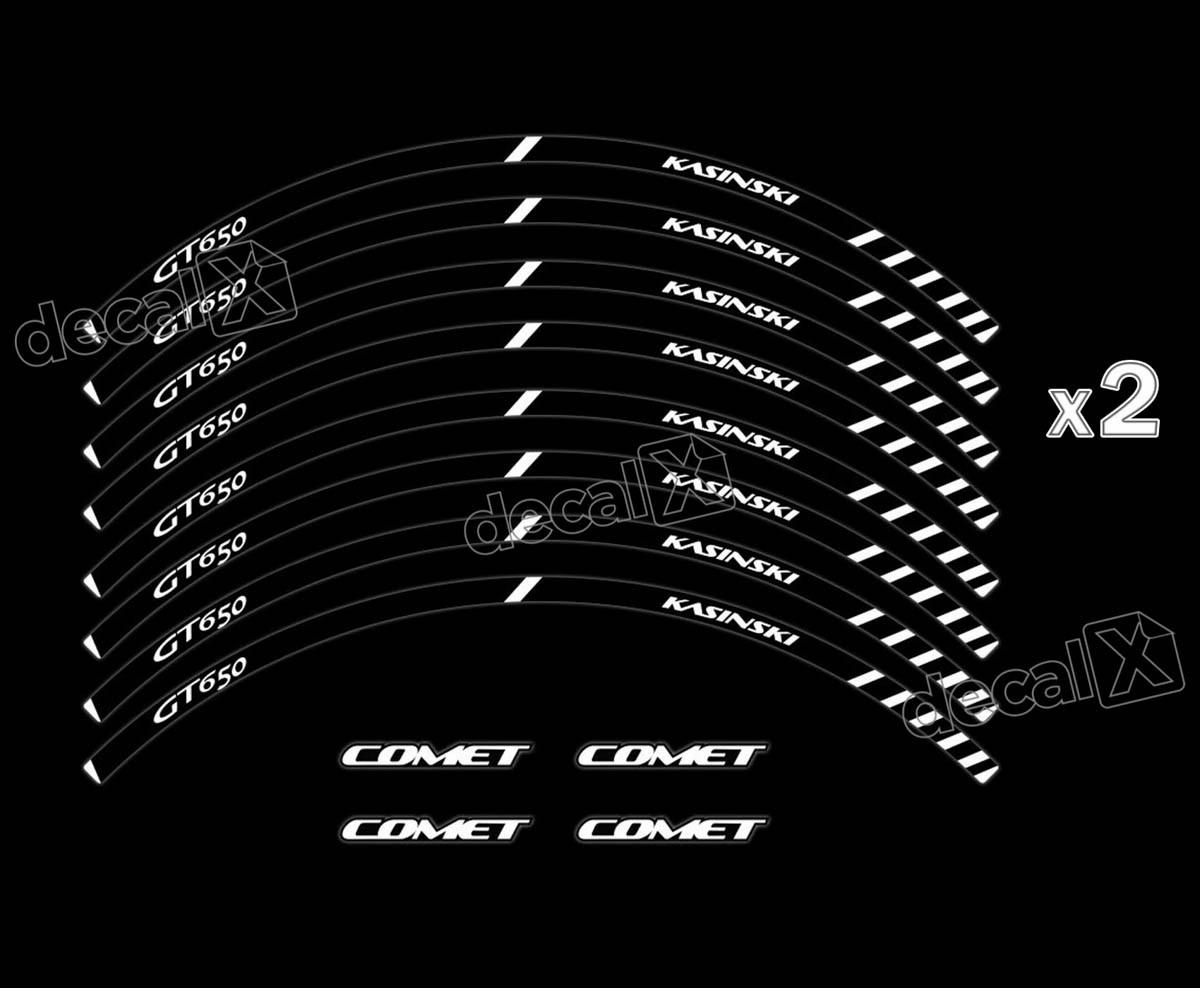 Adesivo Friso Refletivo Roda Moto Kasinski Comet Gt 650 Fr04