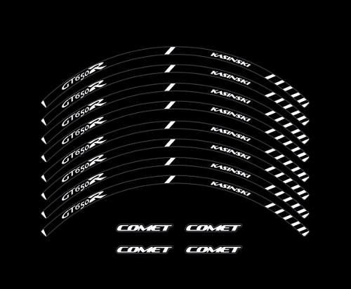 Adesivo Friso Refletivo Roda Moto Kasinski Comet Gtr 650 F08