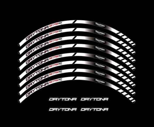 Adesivo Friso Refletivo Roda Moto Triumph Daytona 675r Fri06