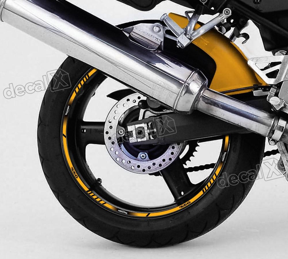 Adesivo Friso Refletivo Roda Moto Triumph Daytona 955i Fr09