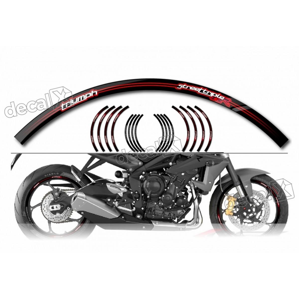 Adesivo Friso Refletivo Roda Moto Triumph Fri02 Decalx