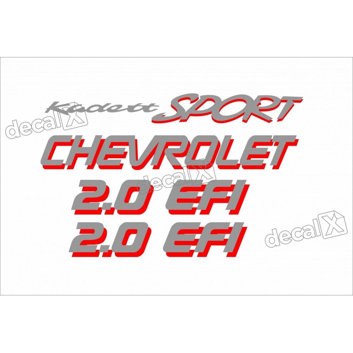 Adesivo Kit Jogo Chevrolet Kadett Sport 2.0 Efi Cza/ver