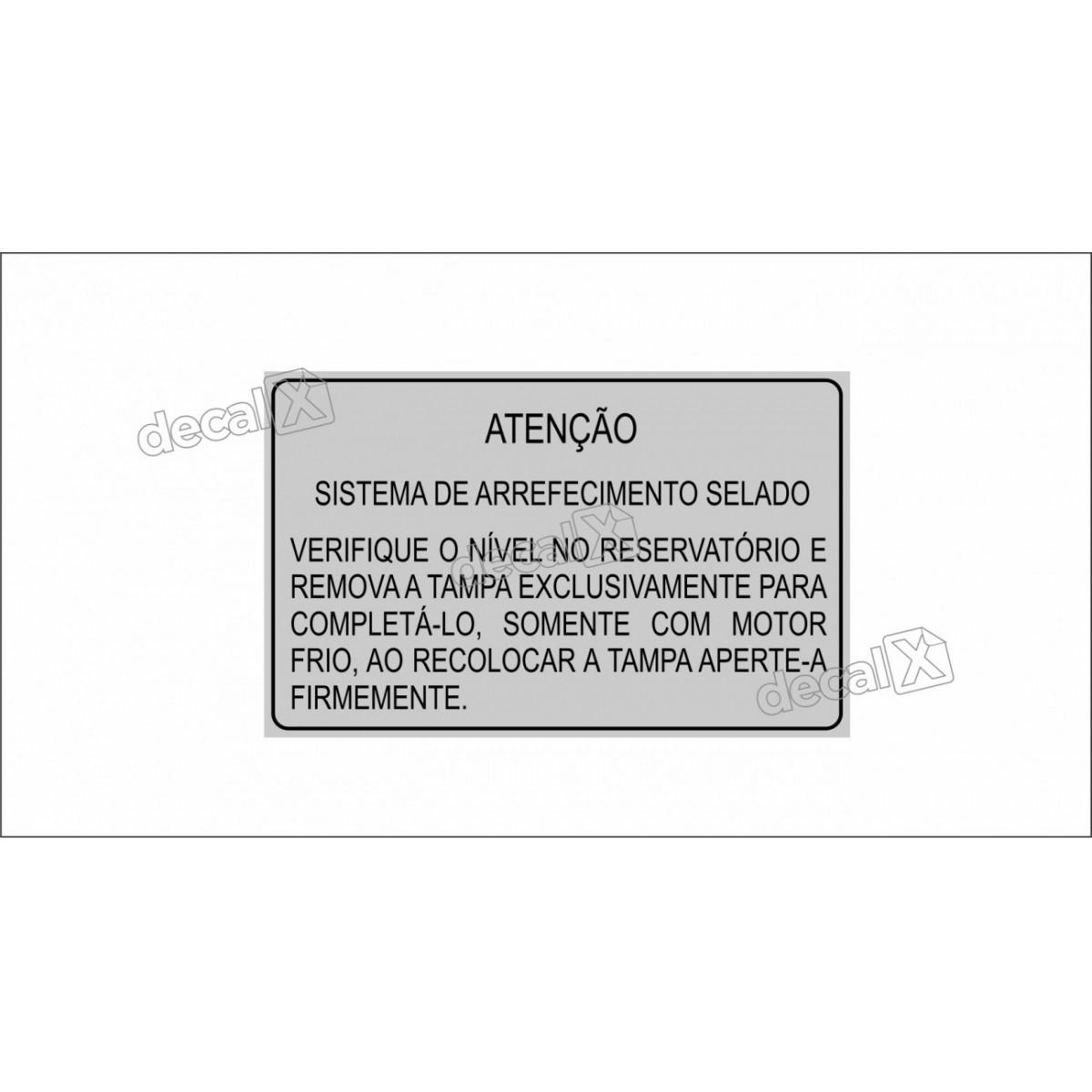 Adesivo Sistema De Arrefecimento Chevette Opala Opl14