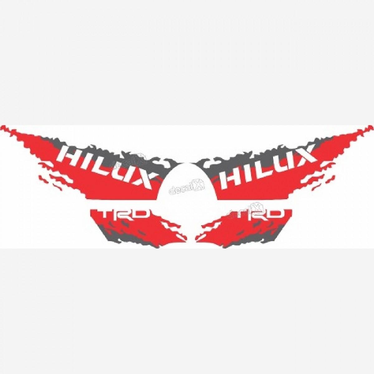 Adesivo Toyota Hilux 2016 Trd Faixa Lateral 3m Hl168