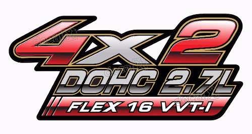 Adesivo Toyota Hilux 4x2 Dohc 2.7l Flex 16v Par Decalx