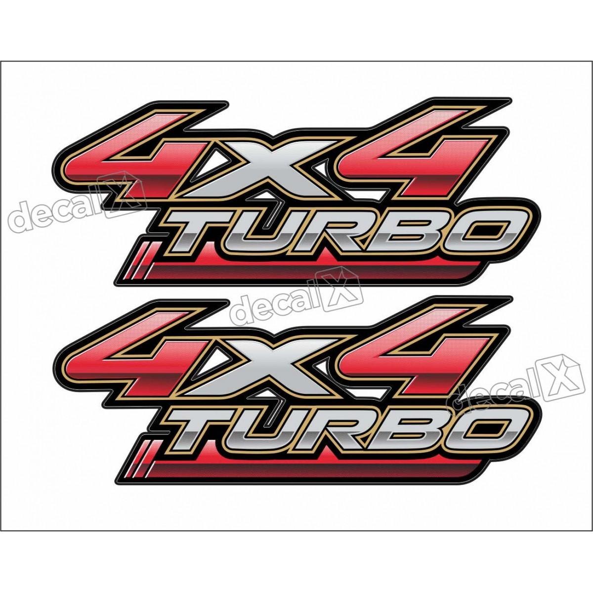 Adesivo Toyota Hilux 4x4 Turbo Par 2009 A 2012 Decalx