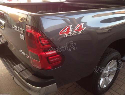 Adesivo Toyota Hilux Revo Diff Lock 4x4 Dflck Decalx
