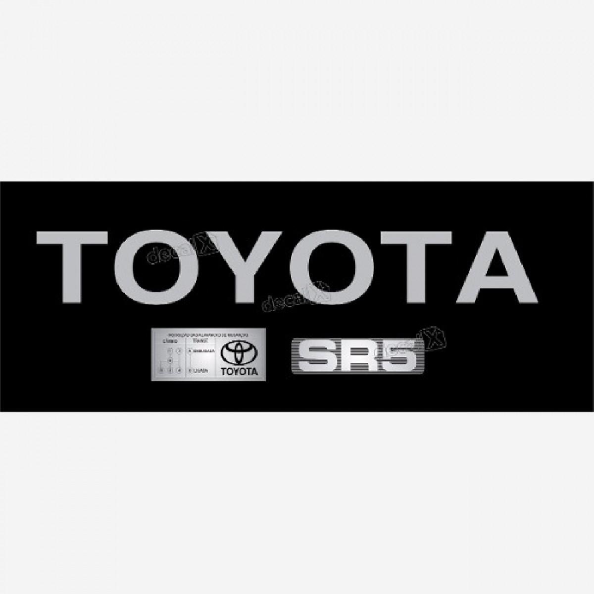 Adesivo Toyota Hilux Tampa Traseira + Sr5 + Etiqueta Kit05