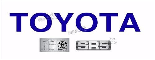 Adesivo Toyota Hilux Tampa Traseira + Sr5 + Etiqueta Kit06