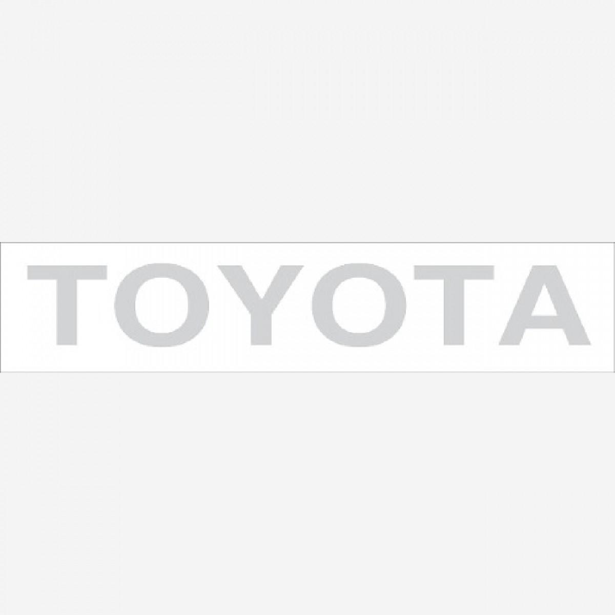 Adesivo Toyota Traseiro Hilux Em Prata Decalx