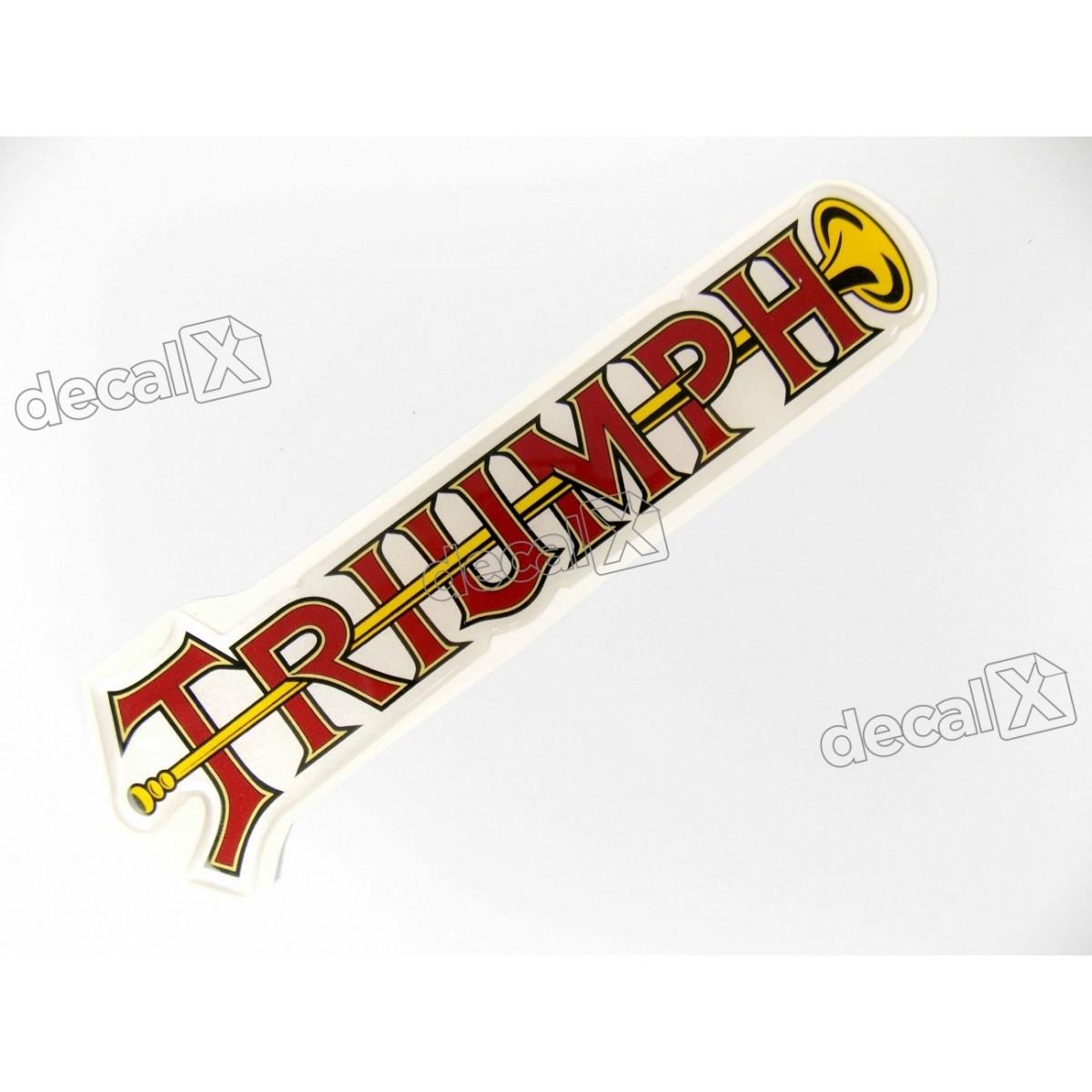 Adesivo Triumph Resinado 4,5x16 Cm Decalx