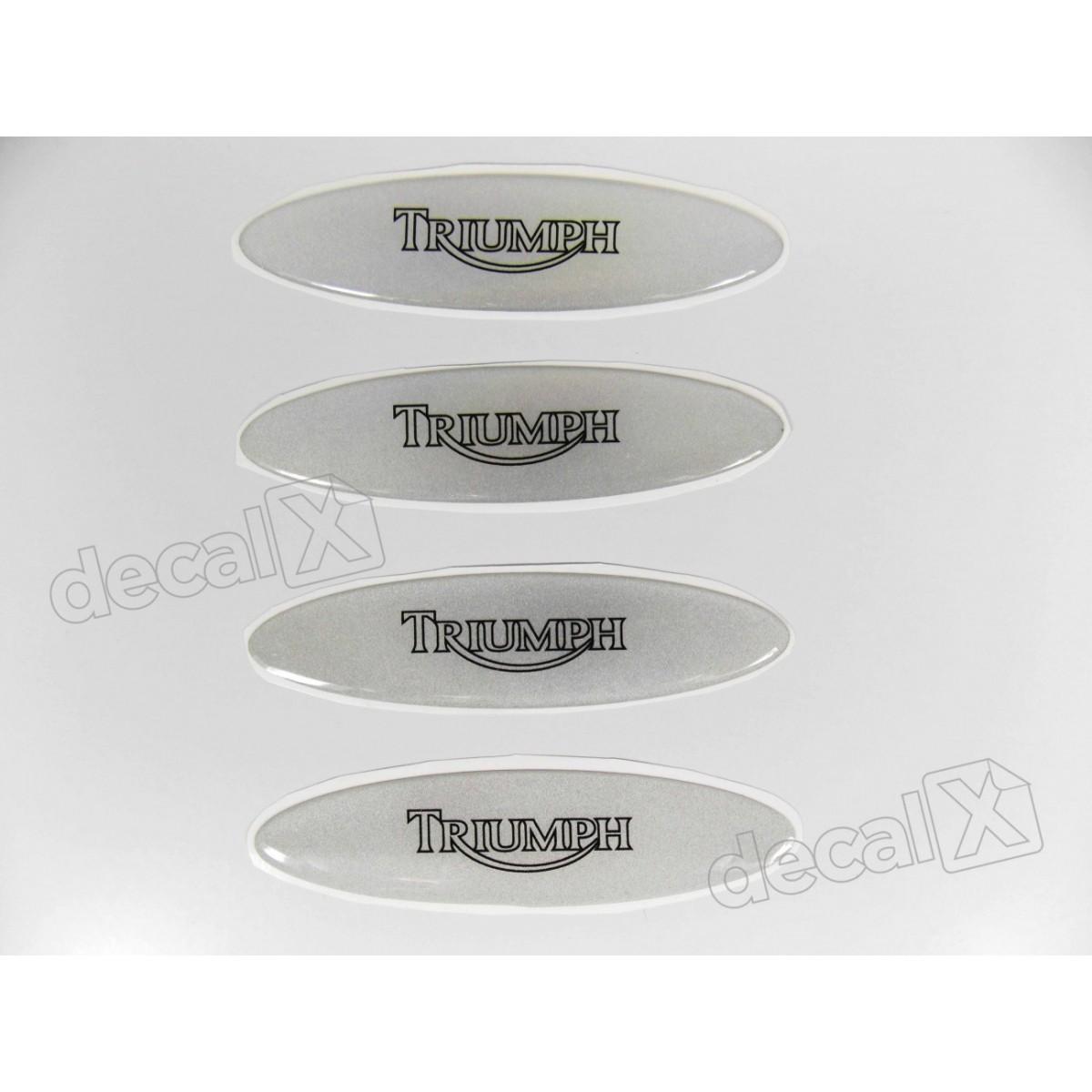 Adesivos Capacete Triumph Resinados Refletivo 2,4x10 Cm