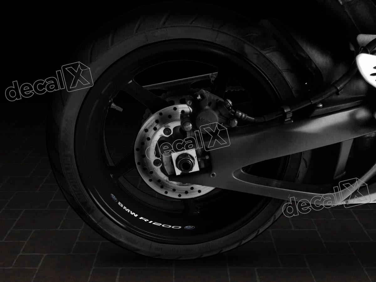 Adesivos Centro Roda Refletivo Moto Bmw R1200 Rd8 Decalx