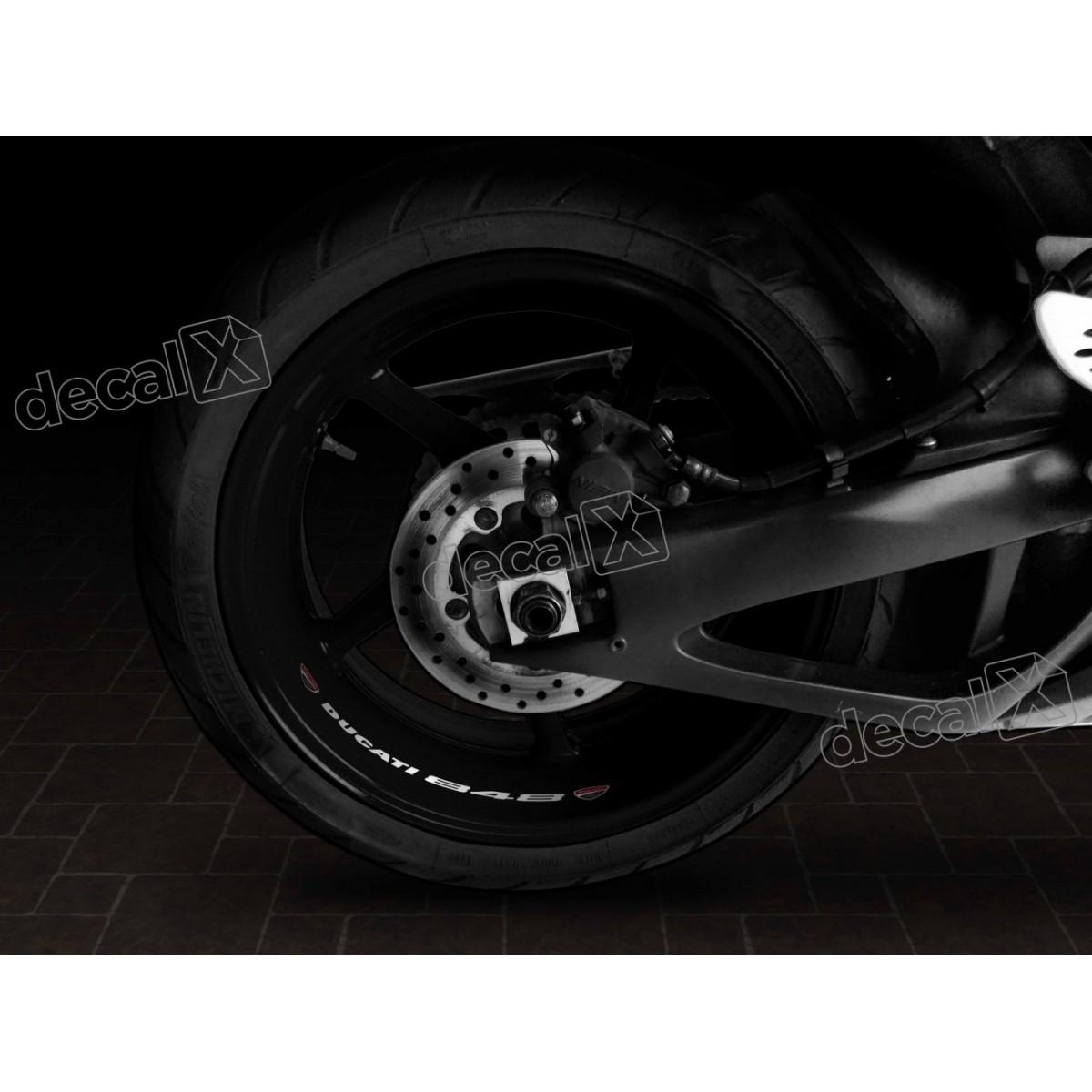 Adesivos Centro Roda Refletivo Moto Ducati 848 Rd6 - Decalx
