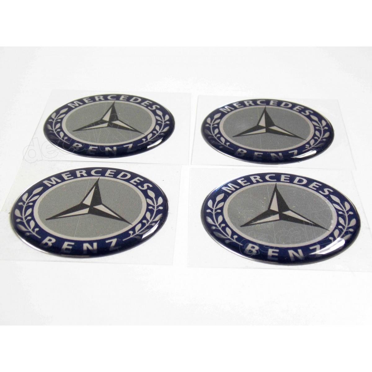 Adesivos Emblema Resinado Roda Mercedes 75mm Cl5 Decalx