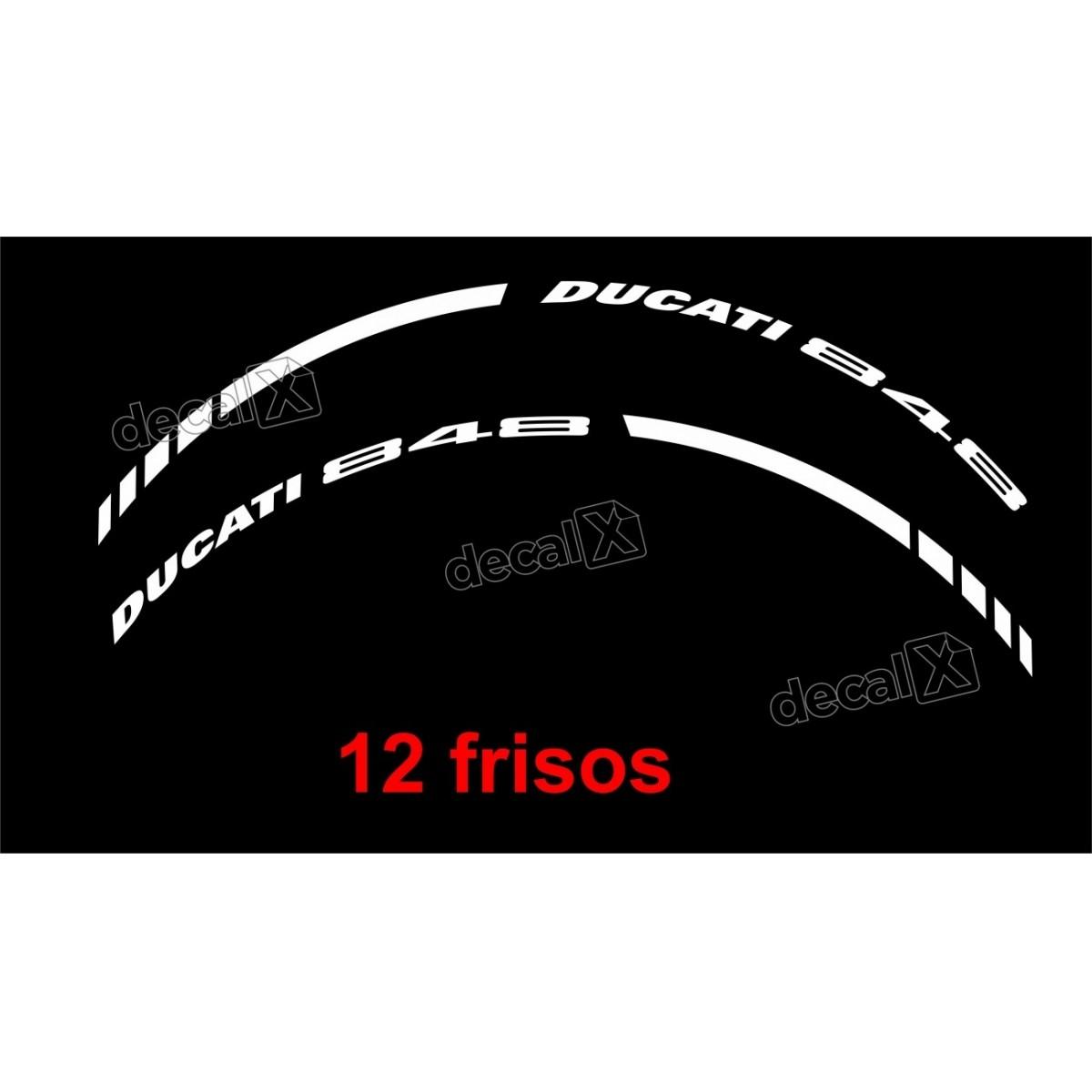 Adesivos Friso Refletivo Roda Moto Ducati 848 Fri05