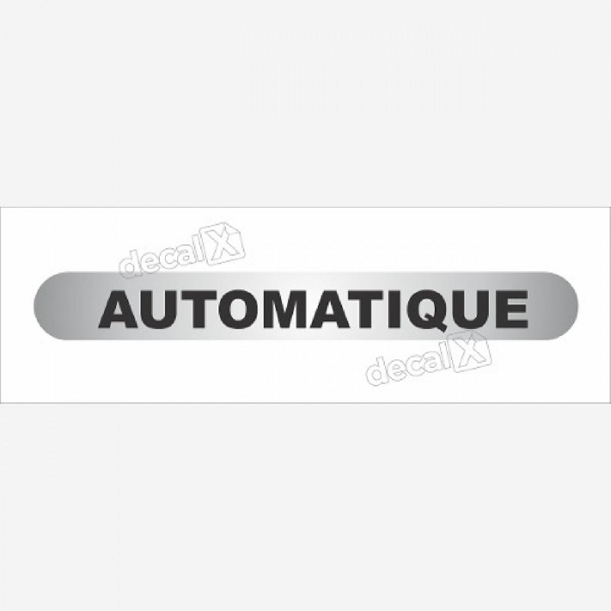 Emblema Adesivo Automatic Citroen C3 C4 Todos Resinado