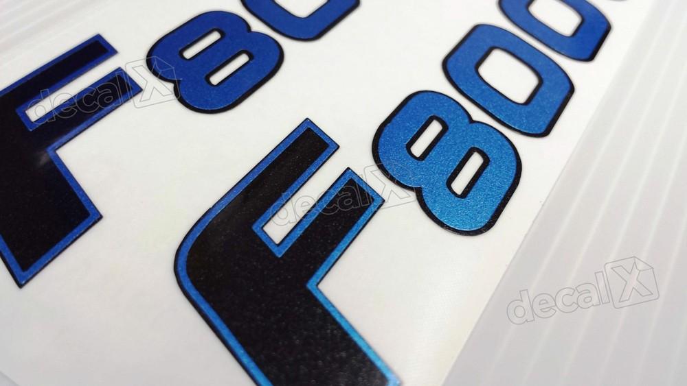 Emblema Adesivo Bmw F800gs 2009 Azul Par Decalx