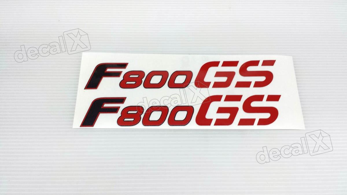 Emblema Adesivo Bmw F800gs 2009 Vermelha Par Decalx