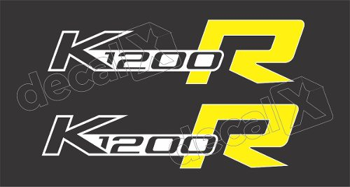 Emblema Adesivo Bmw K1200r Amarela Par Decalx