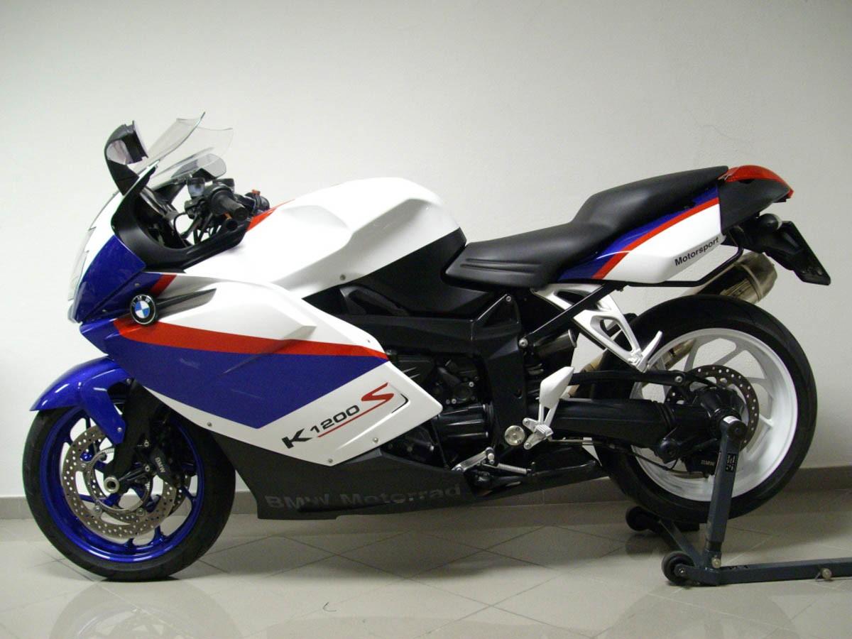 Emblema Adesivo Bmw K1200s Branca E Azul Par Decalx