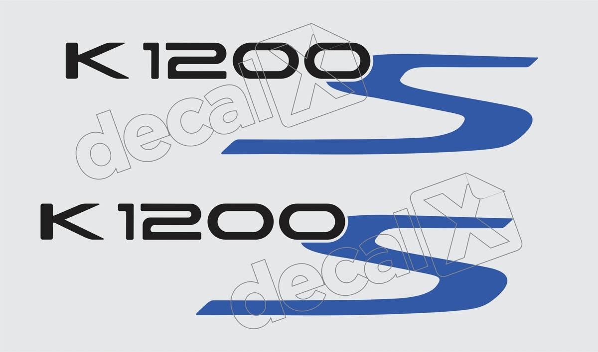 Emblema Adesivo Bmw K1200s Branca E Prata Par Decalx