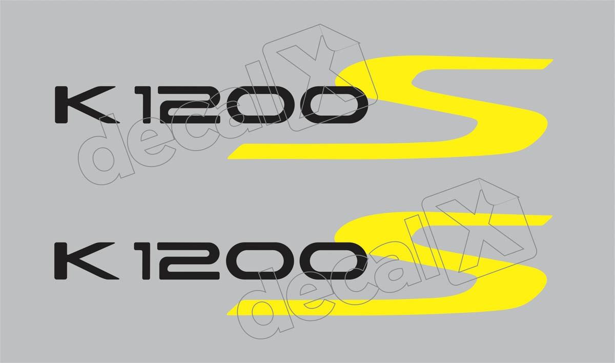 Emblema Adesivo Bmw K1200s Prata Par Decalx