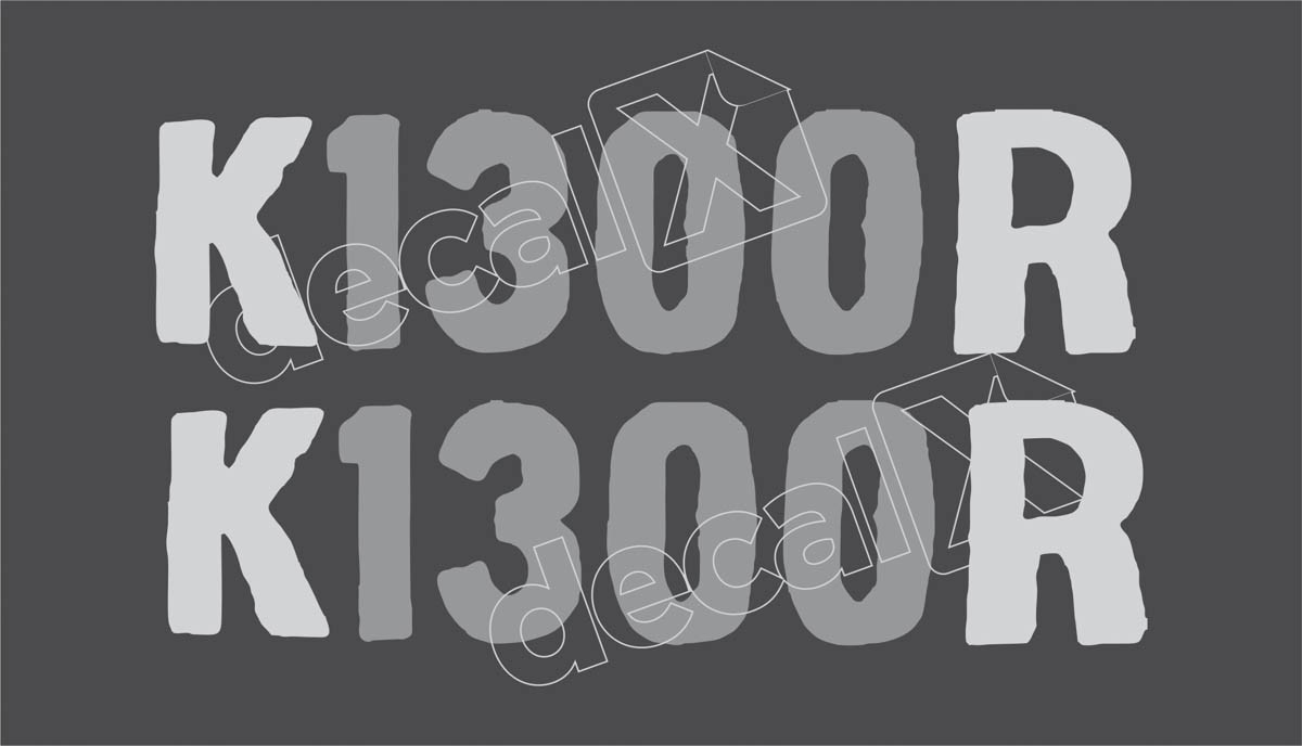 Emblema Adesivo Bmw K1300r Branca Par Decalx