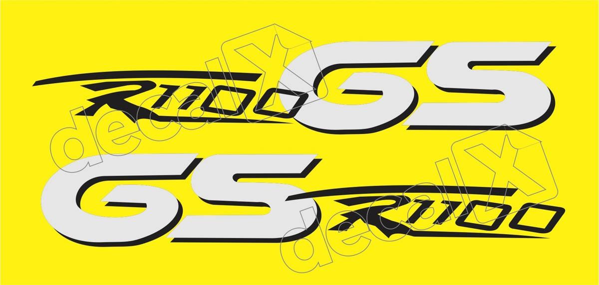Emblema Adesivo Bmw R1100gs Amarela Par Decalx