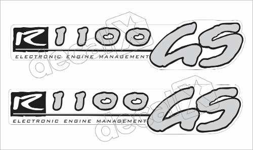 Emblema Adesivo Bmw R1100gs Branca Par Decalx