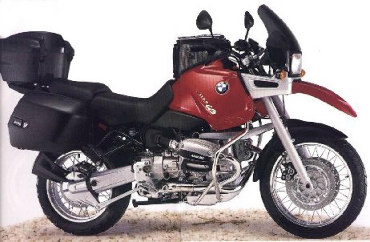 Emblema Adesivo Bmw R1100gs Vermelha Par Decalx