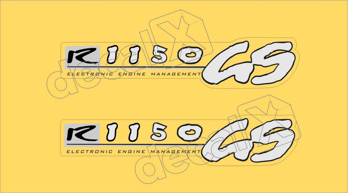 Emblema Adesivo Bmw R1150gs Amarela Par Decalx