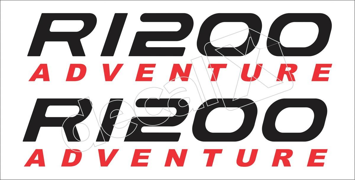 Emblema Adesivo Bmw R1200gs 1200 Adventure Branca Decalx