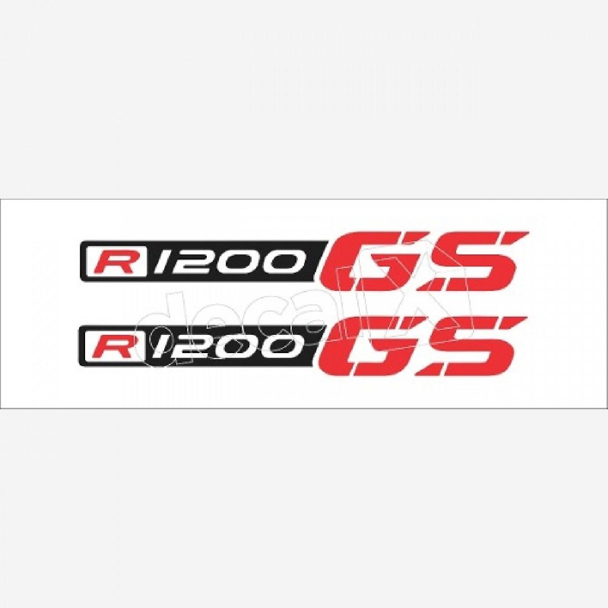 Emblema Adesivo Bmw R1200gs Gs Branca Decalx