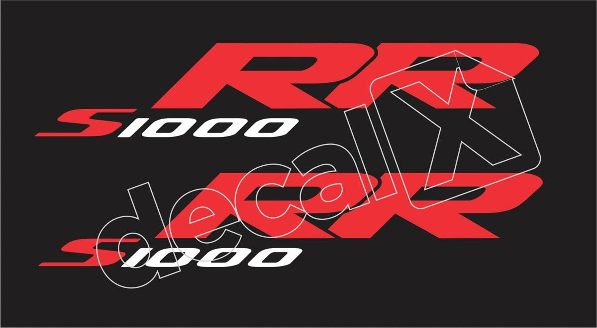 Emblema Adesivo Bmw S1000rr Preta Par Decalx