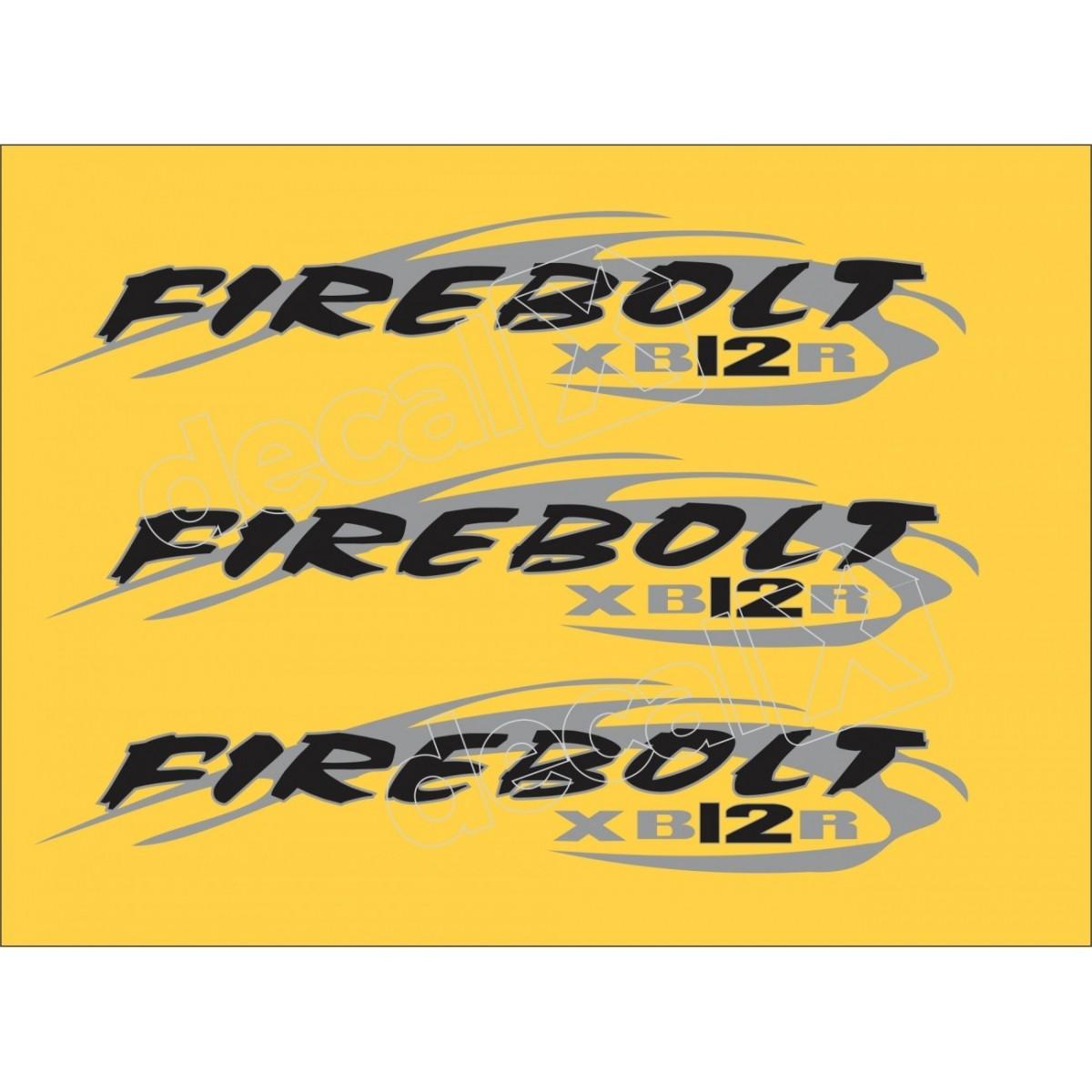 Emblema Adesivo Buell Xb 12r Amarela Decalx