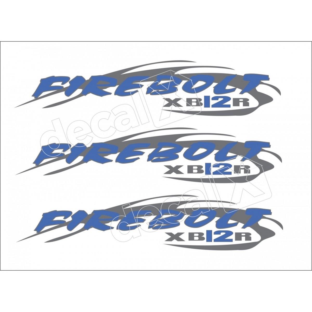 Emblema Adesivo Buell Xb 12r Branca Decalx