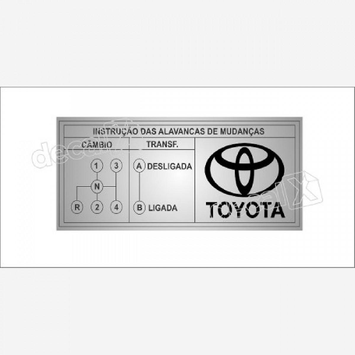 Emblema Adesivo Cambio De Marcha Toyota Hilux Decalx