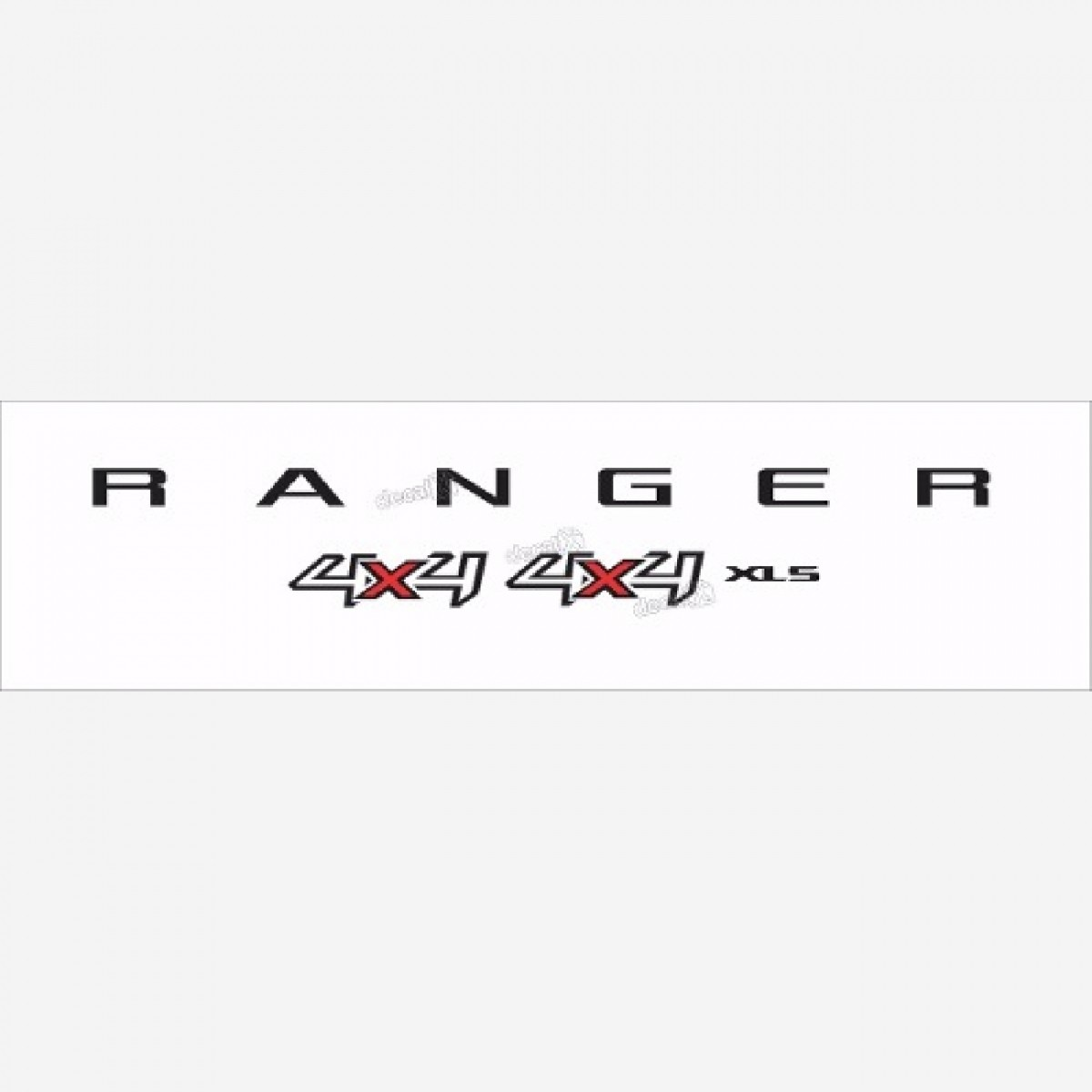 Emblema Adesivo Ford Ranger Xls 4x4 2013 Cam. Branca