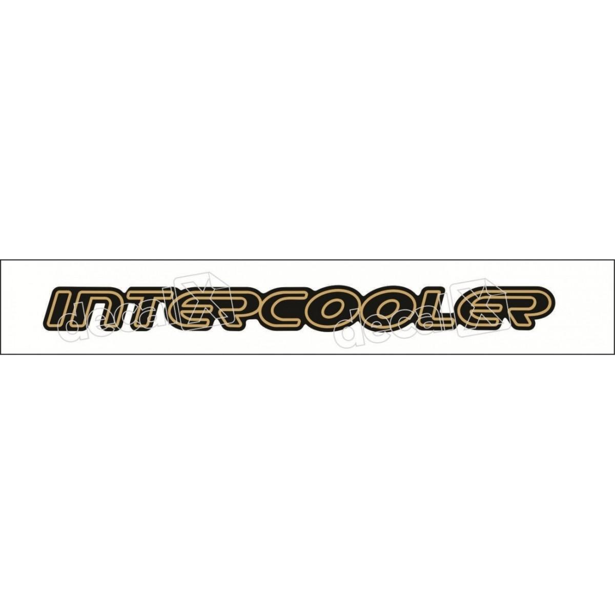 Emblema Adesivo Intercooler Blazer S10 Ouro Resinado Bar028