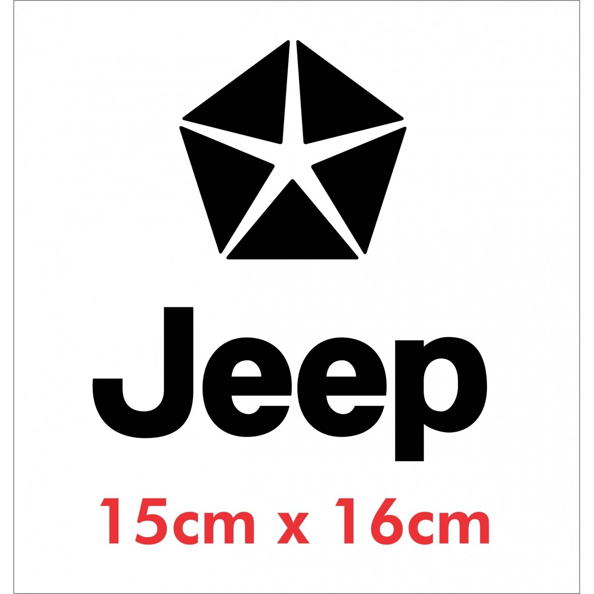 Emblema Adesivo Jeep Willys Renegade Cherokee Ad15