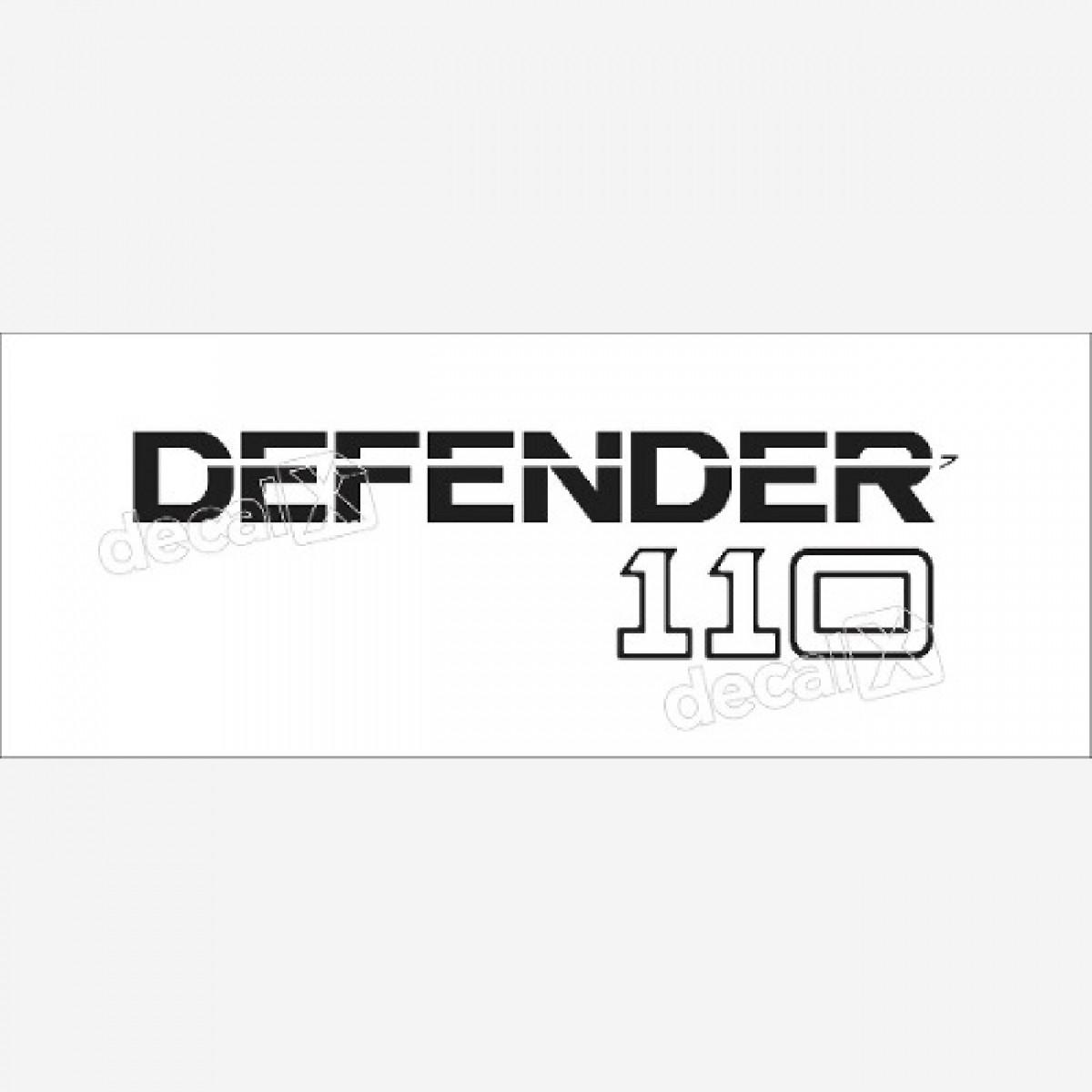 Emblema Adesivo Land Rover Defender 110 Decalx