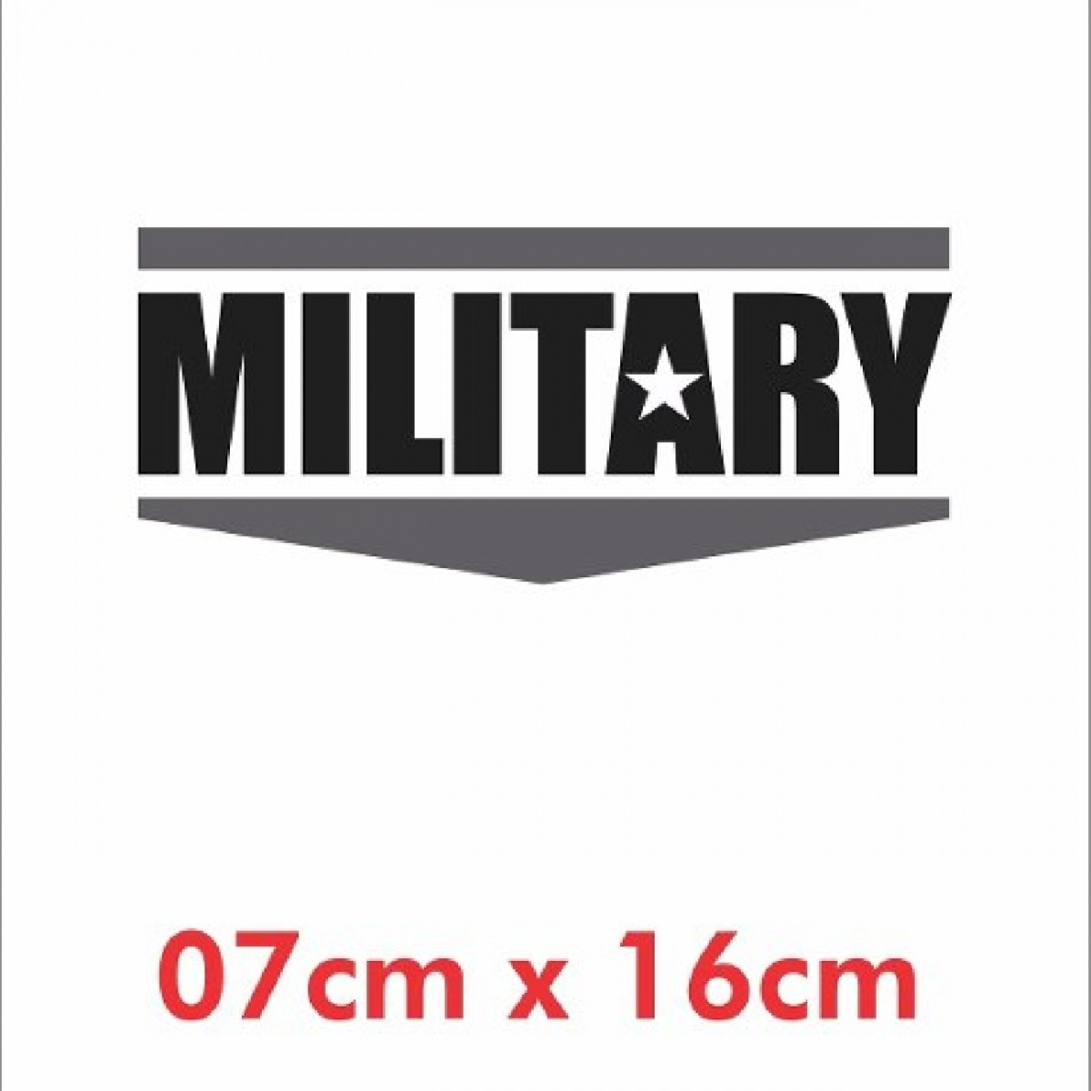 Emblema Adesivo Military Jeep Willys Renegade Cherokee Ad10