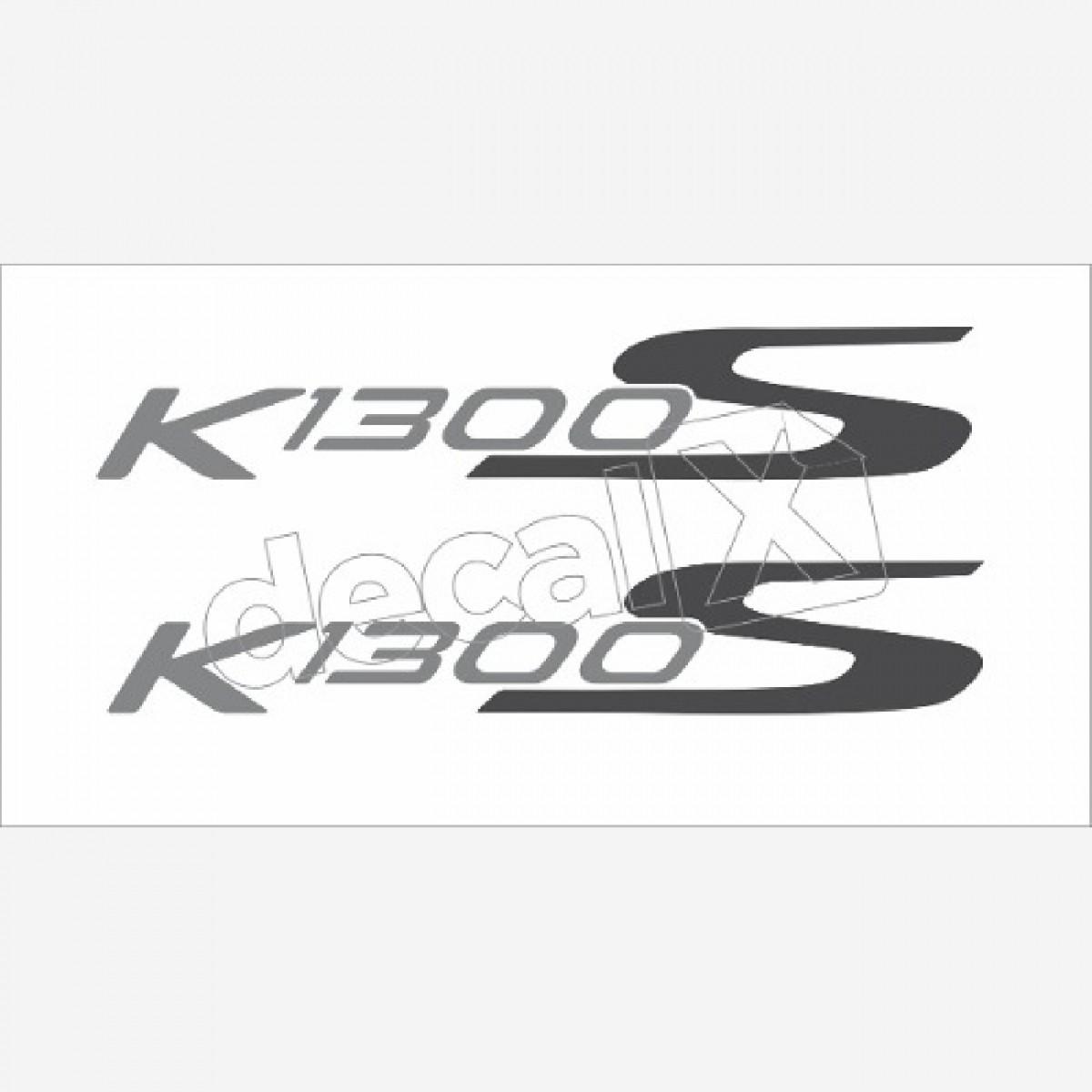 Emblema Adesivo Rabeta Bmw K1300s Branca Par Decalx