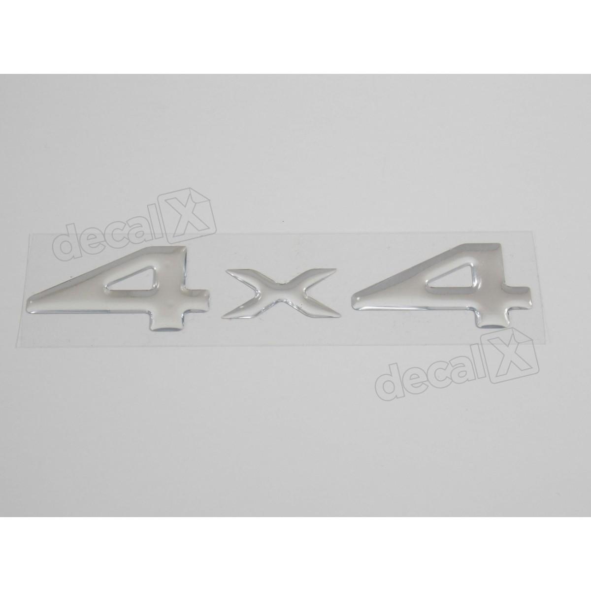 Emblema Adesivo Resinado 4x4 Cherokee Cromado - Decalx