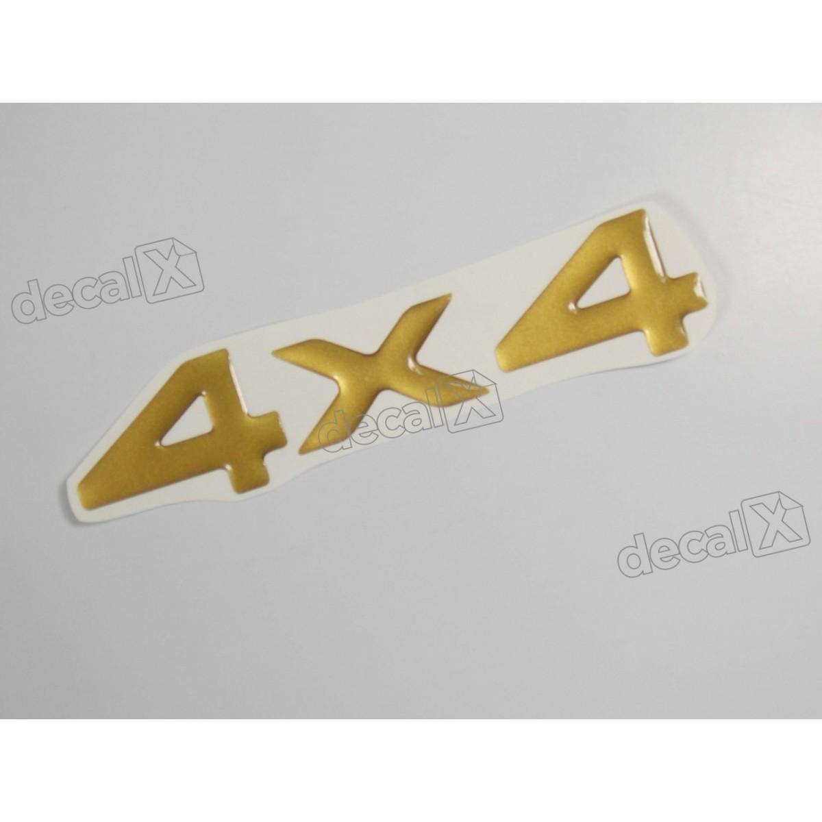Emblema Adesivo Resinado 4x4 Cherokee Dourado - Decalx